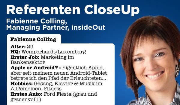 Referenten CloseUp - Lernen Sie Fabienne Colling kennen