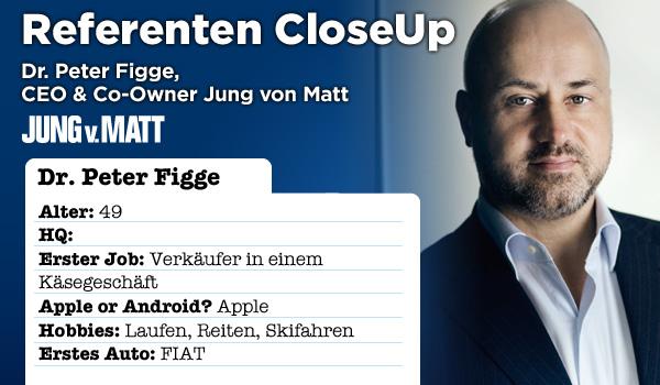 Referenten CloseUp - Lernen Sie Dr. Peter Figge, CEO und Co-Owner der Jung von Matt AG kennen