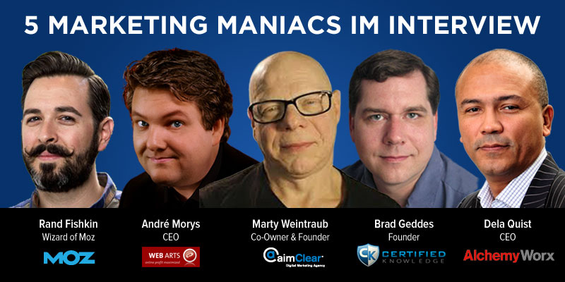 5 Marketing Maniacs im Interview